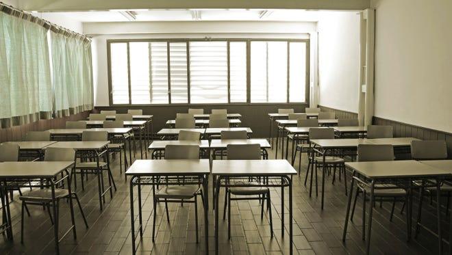 Empty classroom.