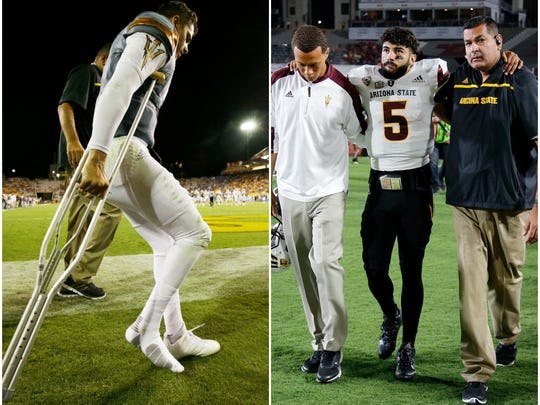 Brady White left the UCLA game on Oct. 8 with a leg