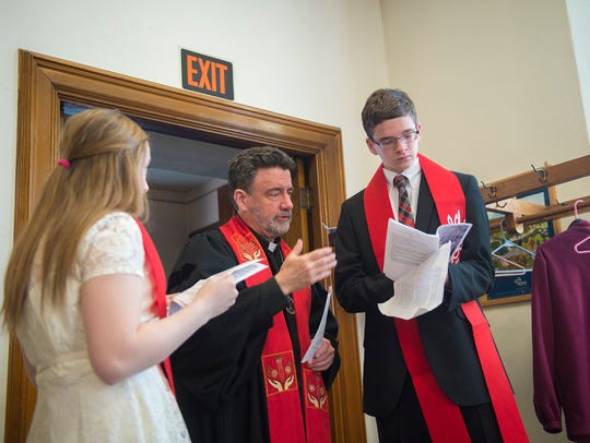 Alissa Wagaman, Reverend Chris Anderson, and Ryan Lee