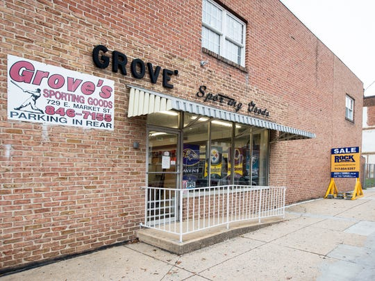 John M. Grove Sporting Goods in the 700 block of East Market Street in York has expanded at the same location several times in the past 50 years.