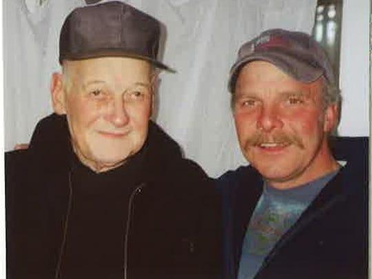 Hank Runge, left, with nephew, Tim Moore.