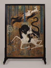 """Robert Winthrop Chanler's """"Leopard and Deer (Death of the White Hart),"""" 1912. Rokeby Collection, Barrytown."""