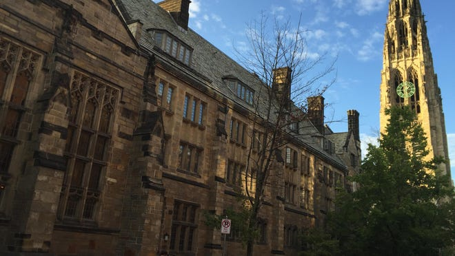 A carillon concert is given twice daily at 12:30 p.m. and 5:30 p.m. at the Harkness Tower on the campus of Yale University in New Haven, Conn.