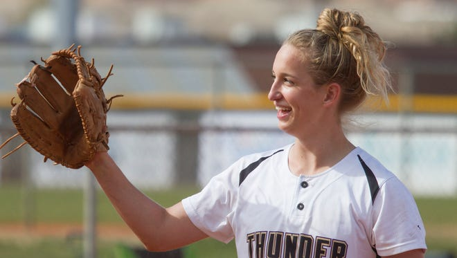After setting a program record for most wins in a season last year, the Desert Hills softball team is already rewriting history with its perfect 12-0 start to the season this year.  The Thunder are led by star pitcher Brianna St. Clair who has the most wins and strikeouts in any classification in the state this year.