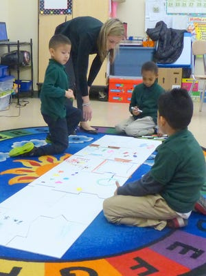Students at the NuView School in Piscataway participate in National Puzzle Day.