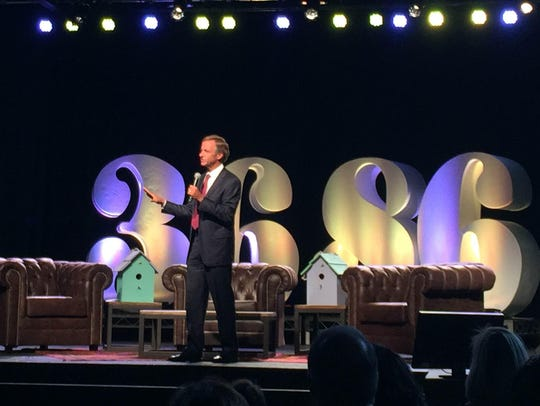 Gov. Bill Haslam speaks to attendees of the 36|86 conference