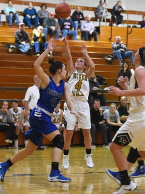River View's Lexi Fry fires a shot against Zanesville.