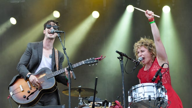 Shovels & Rope perform on the Hangout Stage at the 2013 Hangout Fest.
