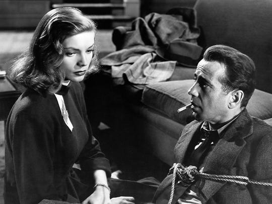 Bogey's romance with Bacall is on the ropes (or in