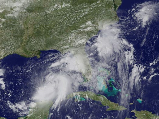 This NASA-NOAA GOES East satellite photo taken Aug.