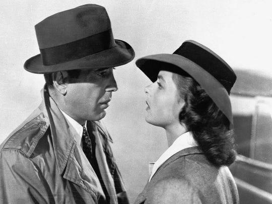 """Casablanca,"" starring Humphrey Bogart and Ingrid Bergman,"