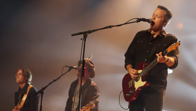 Jason Isbell and his band the 400 Unit perform on the opening night of a six-night run at the Ryman Auditorium Monday October 9, 2017.