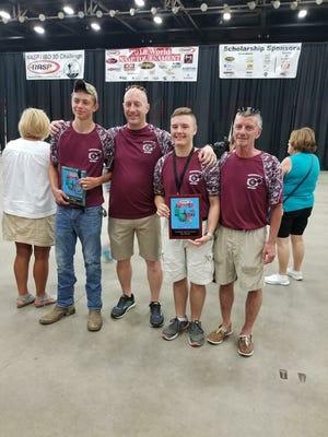 Brennen Majors, Dan Melton (Head Coach), Dalton Hinkle and Jeff Hinkle (Assistant Coach)