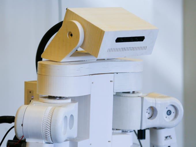 The TR1, a 5-foot-tall robot designed and manufactured