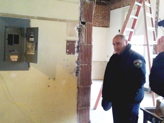 York Police Chief Wes Kahley is shown here in February, giving a tour of the soon-to-be renovated police station on West King Street.