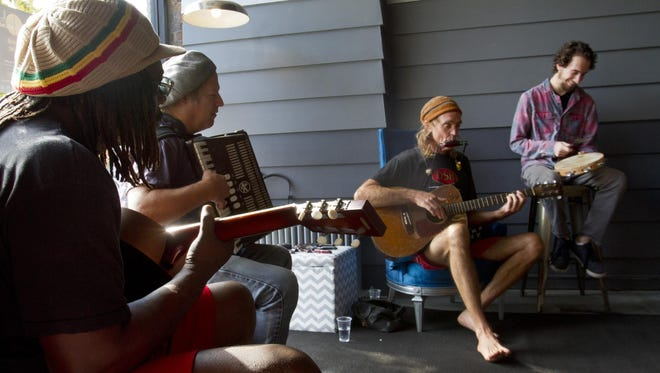 "Kenny ""Stringbean"" Sorensen (second from right) is among the performers scheduled for this year's Asbury Underground."
