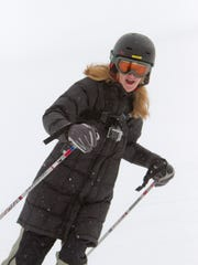 Wearing a GoPro action camera to record her ride downhill from a first-person point of view, Livingston Daily reporter Jennifer Eberbach samples Mt. Brighton's slopes.