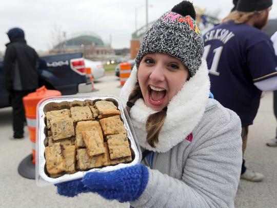 Jessie Merz of West Allis displays her chocolate chip