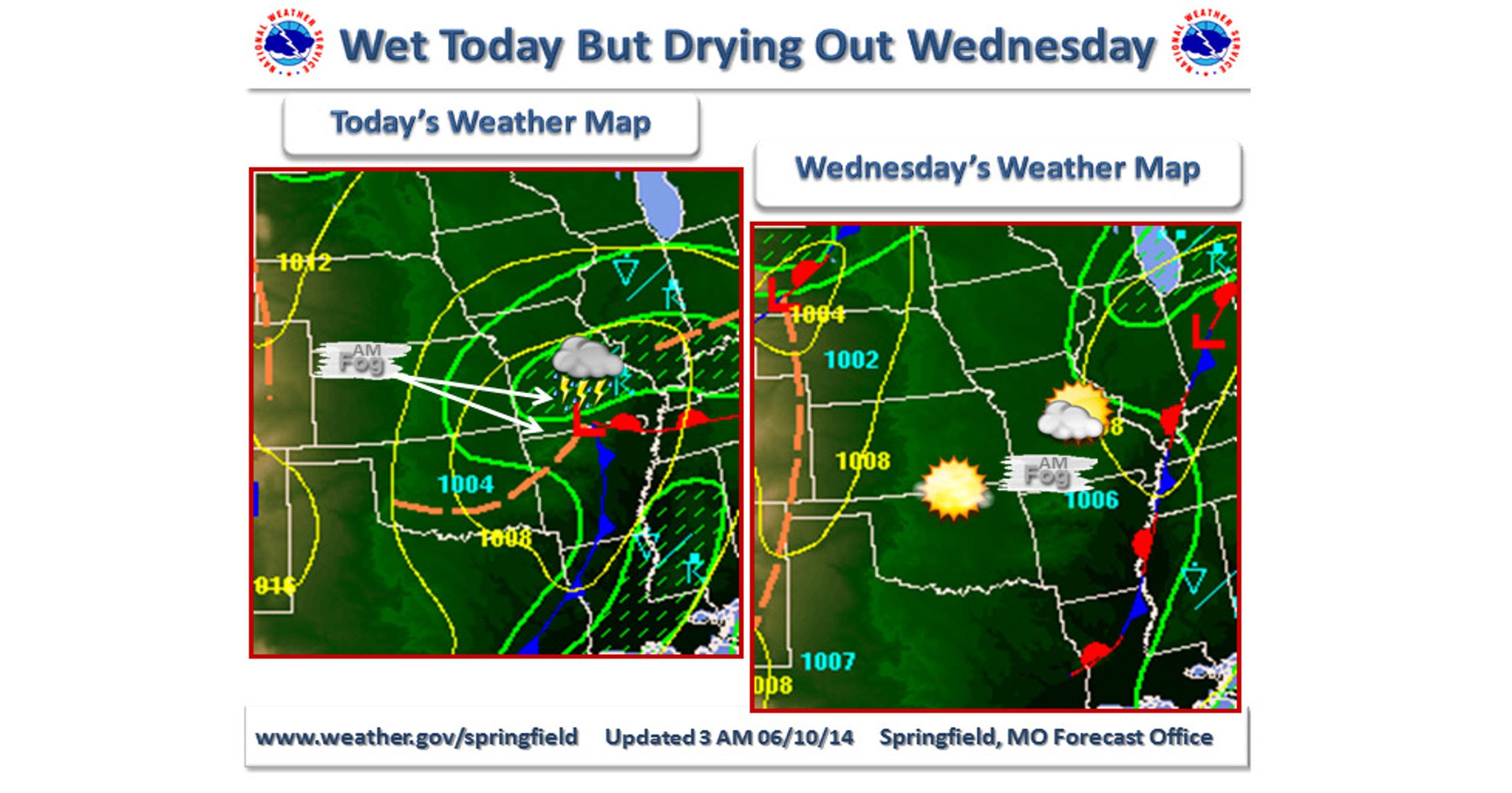 Rain Today But Sun Forecast For Wednesday