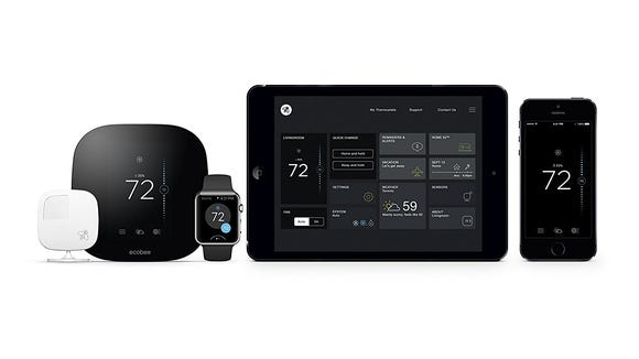 The Ecobee3 with a smart temperature probe is our favorite smart home thermostat.