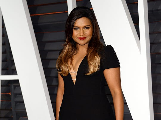 In this Feb. 22, 2015 file photo, Mindy Kaling arrives at the 2015 Vanity Fair Oscar Party in Beverly Hills, Calif.