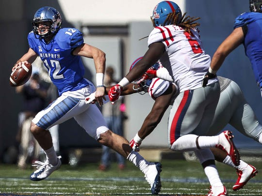 Quarterback Paxton Lynch led Memphis to one of its biggest wins with the Tigers' 2015 upset over Ole Miss.
