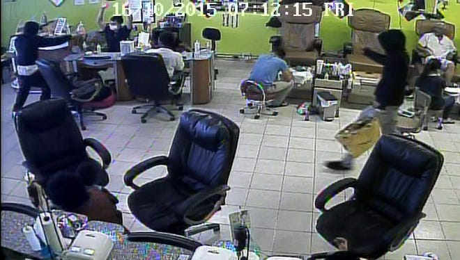 Three subjects robbed Glamour Nails and Spa Saturday. They're considered armed and dangerous.