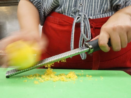 Anne Massie makes a lemon zest for one of her recipes