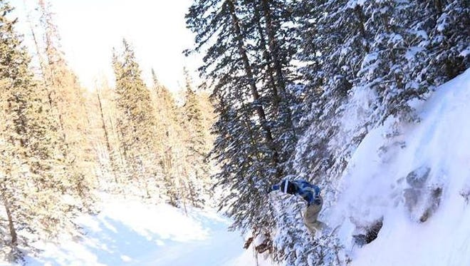 Fresh powder at Ski Apache.