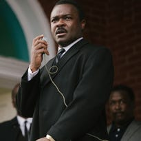 "David Oyelowo portrays  Martin Luther King Jr. in a scene from ""Selma."""