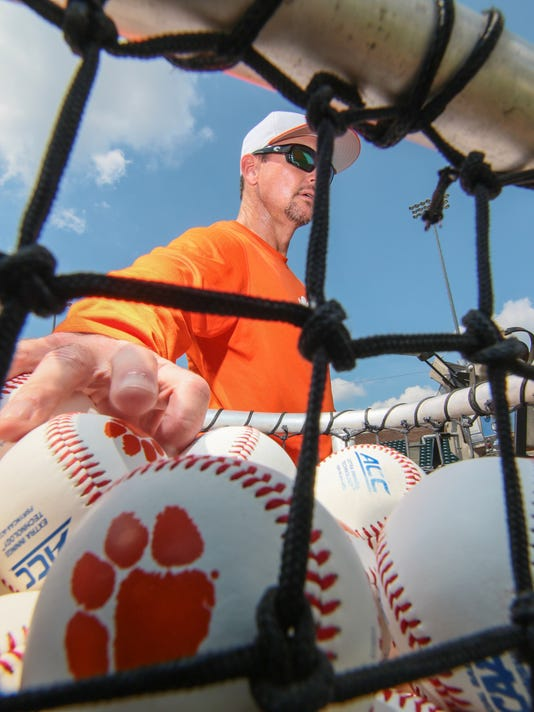 Clemson baseball first day of fall practice