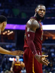 Cleveland Cavaliers LeBorn James is. not happy with