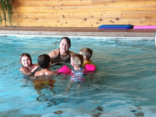 Today swim lessons, tomorrow maybe a school of their