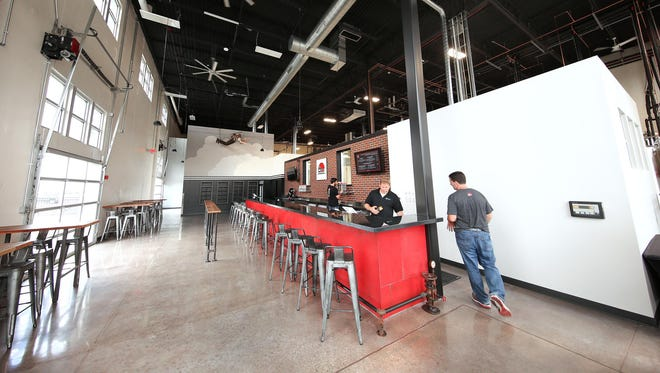 Daredevil Brewing Co is wide open and spacious in the bar area.