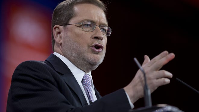 Americans for Tax Reform President Grover Norquist speaks during the Conservative Political Action Conference in National Harbor, Maryland, in February 2015.