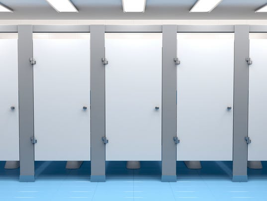 Public toilet cubicles