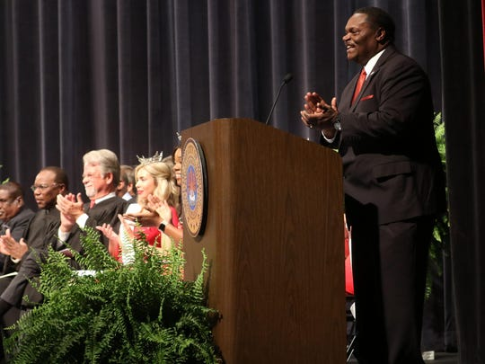New and incumbent members of Monroe's City Council were inaugurated alongside Mayor Jamie Mayo at the Monroe Civic on June 30.