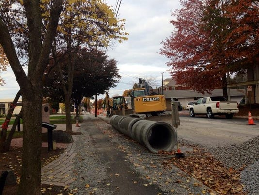 Construction is already underway on Gettysburg's Steinwehr Avenue. The project to reviatlize the business-heavy street has been underway for several years and received a bump from a recent Pennsylvania Department of Transportation grant.