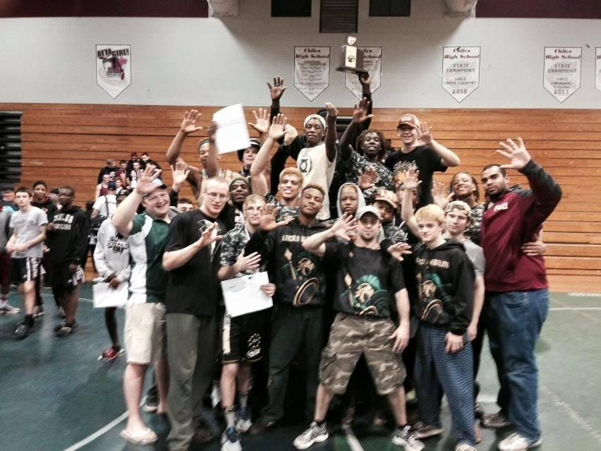 The Lincoln wrestling team won its fifth consecutive region title last year.