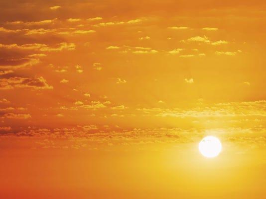 Panorama of Beautiful Natural Sunset Sunrise. Background