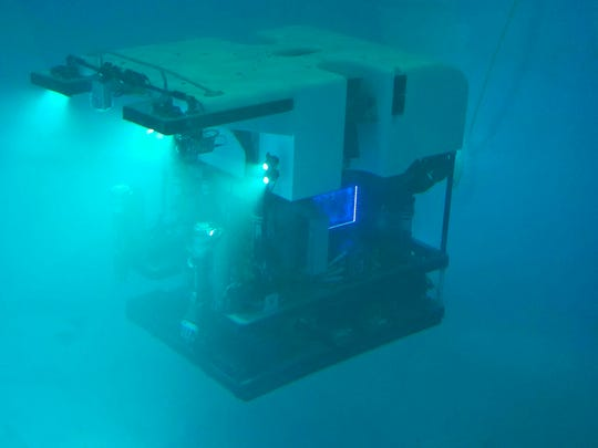 Deep Discoverer, a 9,200-pound remotely operated vehicle, uses the stability provided by Richmond-based Greensea's control, navigation and automation for precise inspection and data gathering.