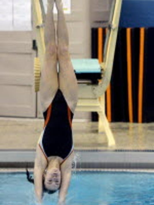 Northeastern's Lindsey Pope has posted the second highest winning diving score this season.