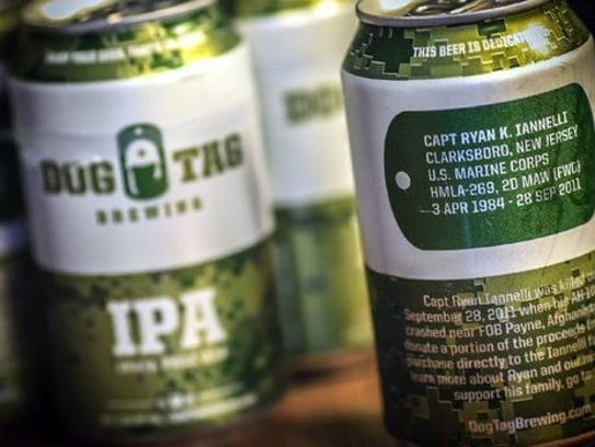Each can produced by Dog Tag Brewing Co. features a