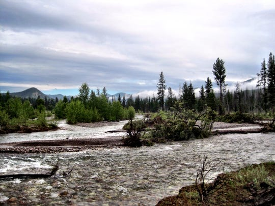 The South Fork of the Flathead River flows through the Bob Marshall Wilderness.
