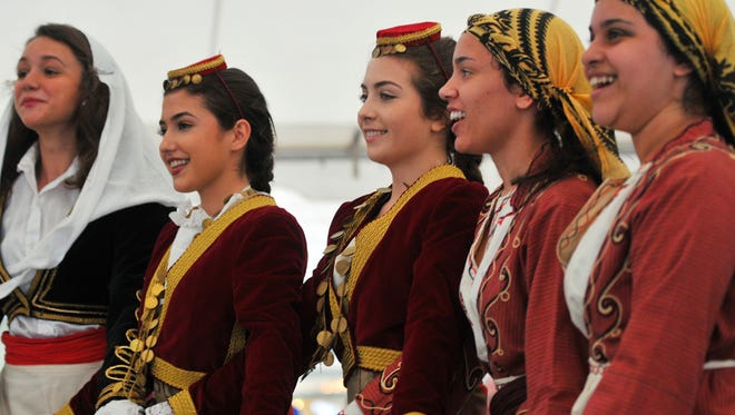 Grecian Odyssey Dancers entertain the crowds at St. Katherine's Greek Festival in Melbourne.