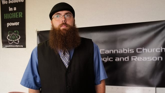 Jeremy Hall is an ordained minister and has opened a church called First Cannabis Church of Logic and Reason in south Lansing. It held its first service Sunday, June 26, 2016.