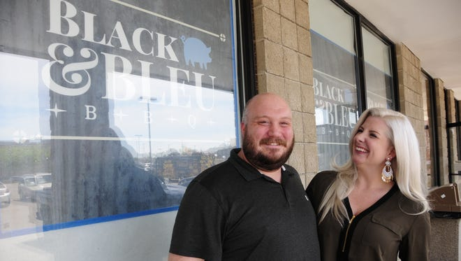 James and Casey Pecor are opening Black & Bleu Barbecue in St. Clair.
