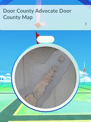 The new Pokemon Go app lists the Door County Advocate as a Pokestop.