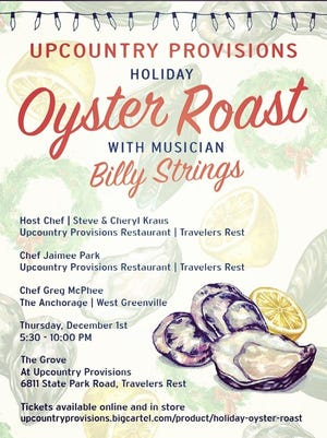 Upcountry Provisions will host a special holiday oyster roast Dec. 1.