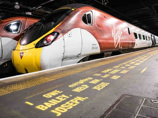 A Virgin Trains train in the U.K.